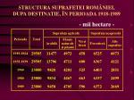 structura suprafetei rom niei dupa destinatie n perioada 1918 1989