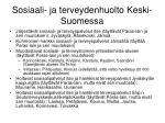 sosiaali ja terveydenhuolto keski suomessa