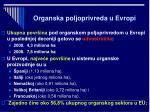 organska poljoprivreda u evropi