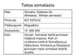 tietoa somaliasta