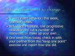 make a commitment to change
