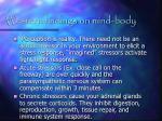 western findings on mind body