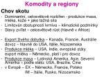 komodity a regiony