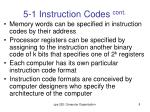 5 1 instruction codes cont5