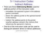 5 1 instruction codes indirect address