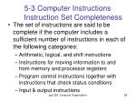 5 3 computer instructions instruction set completeness