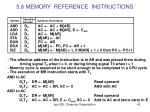 5 6 memory reference instructions