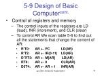 5 9 design of basic computer cont1