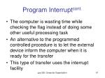 program interrupt cont