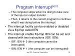 program interrupt cont2