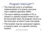 program interrupt cont4