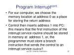 program interrupt cont5