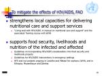 to mitigate the effects of hiv aids fao