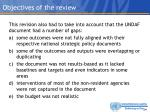 objectives of the review1