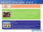 outcome 2 human capital progress