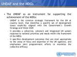 undaf and the mdgs1