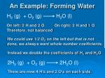 an example forming water