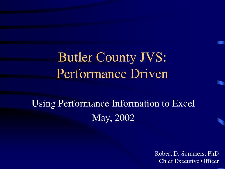 butler county jvs performance driven n.