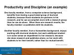 productivity and discipline an example