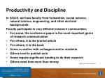 productivity and discipline