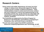 research centers1