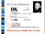 5 costs relativity