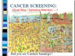 cancer screening1