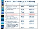 cost of chemotherapy screening
