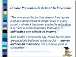 disease prevention is related to education