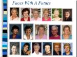 faces with a future