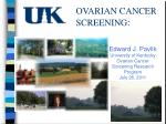 ovarian cancer screening