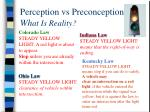 perception vs preconception wh at is reality1