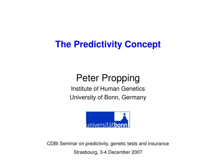 the predictivity concept n.