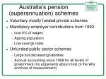 australia s pension superannuation schemes