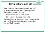 revaluations and ovcs