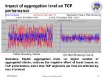 impact of aggregation level on tcp performance