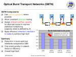 optical burst transport networks obtn