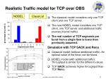 realistic traffic model for tcp over obs