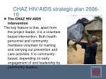 chaz hiv aids strategic plan 2006 104