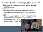 chaz hiv aids strategic plan 2006 109