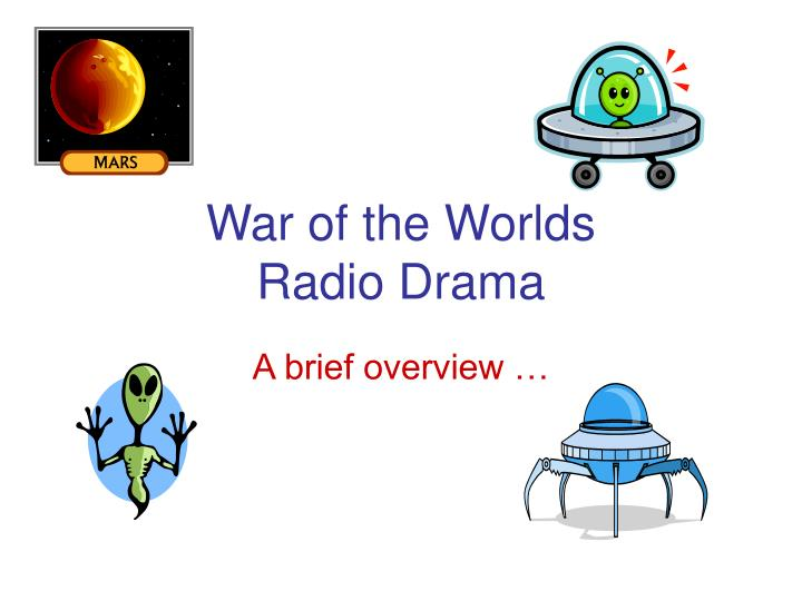 war of the worlds radio drama n.