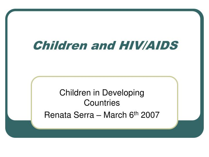 children and hiv aids n.