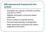 un sponsored framework for action