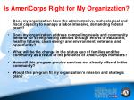 is americorps right for my organization