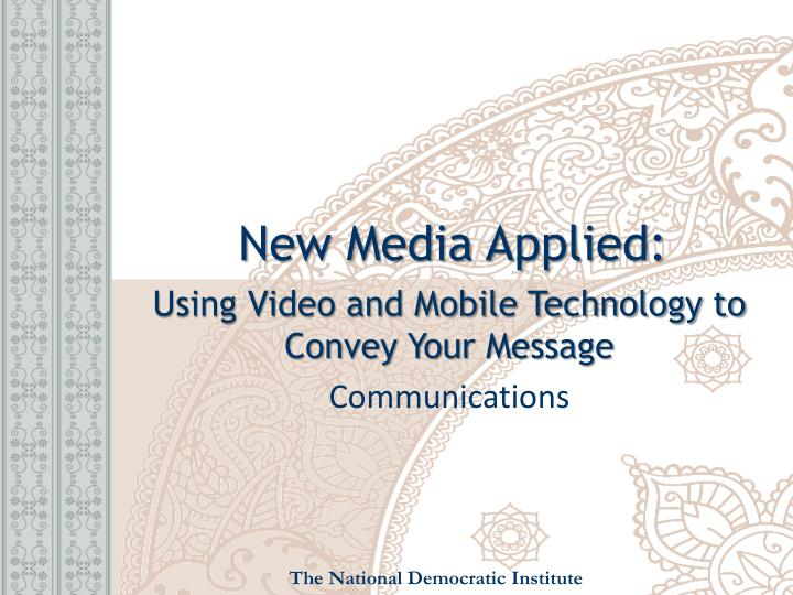new media applied n.