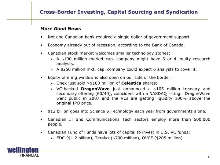 Cross-Border Investing, Capital Sourcing and Syndication