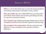 about bpeo