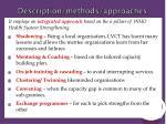 description methods approaches