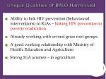 unique qualities of bpeo harnessed