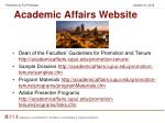academic affairs website